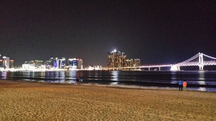 Gwangalli Beach at night