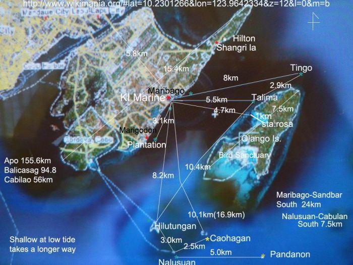 wikimapia mactan-olango area distance